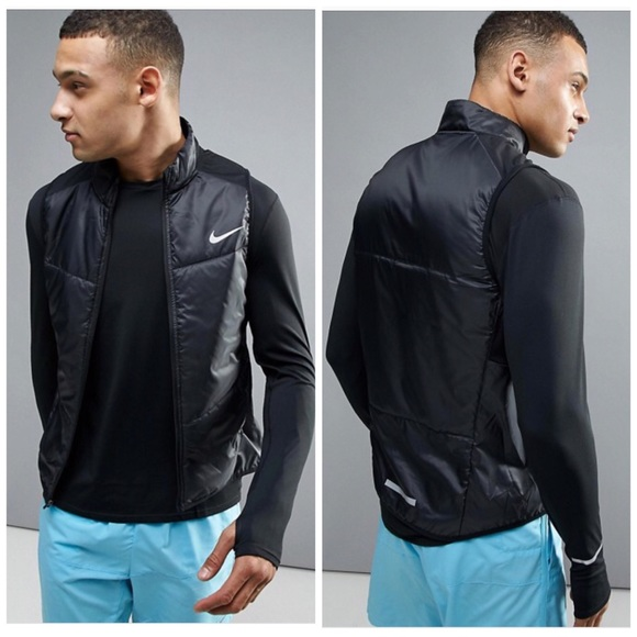 9365b8ea7249 Nike Size Large Polyfill Running Vest In Black